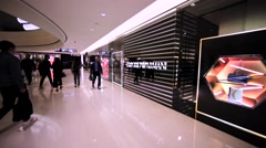 Emporio&Armani showwindow in Hong Kong mall. Stock Footage