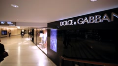 Dolce&Gabbana store in Hong Kong mall. Stock Footage