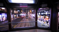 Interior of the two-storeyed Hong Kong tramway. Stock Footage