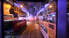 View from the second floor of Hong Kong tramway. Stock Footage