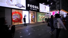 Fossil store in Hong Kong. Stock Footage