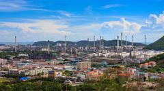 Oil Petroleum Refinery Factory 4K Time Lapse Stock Footage