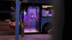 Bus at Singapore MRT Station Stock Footage