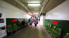 Going along the corridor to the Hong Kong Ferry. Stock Footage