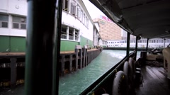 The Hong Kong Ferry is setting off. Stock Footage