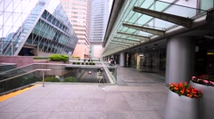Business buildings, shopping malls, or headquarters offices. Stock Footage