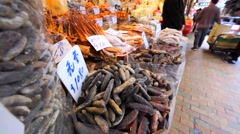 Chinese fish market in Hong Kong. Stock Footage