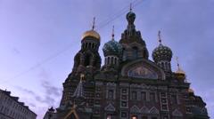 Savior on Blood Cathedral St. Petersburg Stock Footage