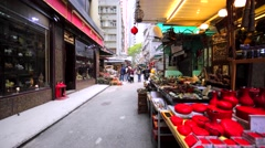 Chinese souvenirs that are sold on the street. Hong Kong. Stock Footage