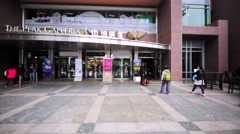 Buildings of the shopping mall Peak Galleria and others on the Victoria Peak Stock Footage