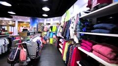 Interior of clothing store in Hong Kong mall. Stock Footage