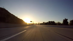 Freeway Sunrise Driving Time Lapse in Southern California Stock Footage
