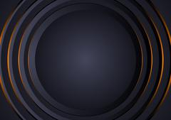 Abstract Background with Circular Layers Stock Illustration