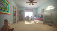 Child room interior Stock Footage