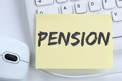 Pension retirement business concept office - stock photo