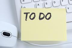To Do list note paper checklist business concept office Stock Photos