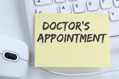 Doctor's medical appointment doctor medicine ill illness healthy health offic Stock Photos