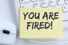 You are fired employee losing jobs, job working unemployed business concept o Stock Photos