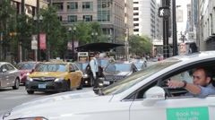 Taxi in Chicago Stock Footage