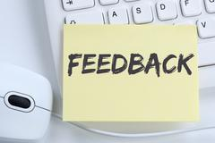 Feedback contact customer service opinion survey business concept review offi - stock photo