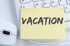 Vacation holiday holidays relax relaxed break free time office Stock Photos