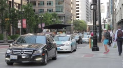 Chicago Street Scene Stock Footage