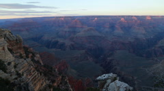 Sunset over the Grand Canyon Stock Footage