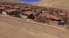 The small town in the middle of the desert Stock Footage
