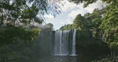 Rainbow falls in KeriKeri, Northland New Zealand Stock Footage