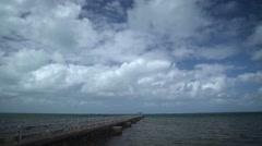 Pier on Mauritian coast Stock Footage