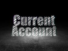 Money concept: Current Account in grunge dark room - stock illustration