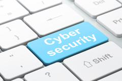 Protection concept: Cyber Security on computer keyboard background Stock Illustration