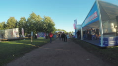 Pavilions social groups at festival VK Stock Footage