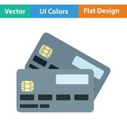 Credit card icon - stock illustration