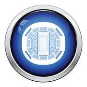 American football stadium bird's-eye view icon Stock Illustration