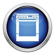 Kitchen main stove unit icon Stock Illustration