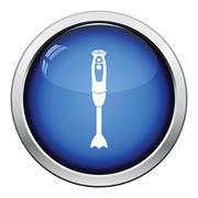 Hand blender icon - stock illustration