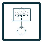 American football game plan stand icon Piirros