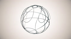 Metamorphose of amorphous sphere from dots, abstract animation 4K Stock Footage