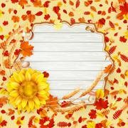 Autumn leaves background. EPS 10 Stock Illustration