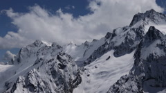 Snow Covered Mountain Tops Stock Footage