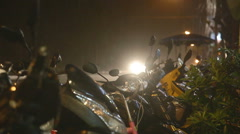 Motocycle parking Stock Footage