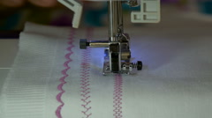 A sewing machine, sew the fabric Stock Footage