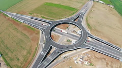Suspended roundabout, static aerial view Stock Footage