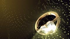 Diamond Ring Background 4K (Loop E) Stock Footage