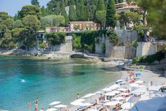 CAP FERRAT, FRANCE  - 27 JUNE 2016 : Cote d'Azur France. View of luxury bay o Stock Photos