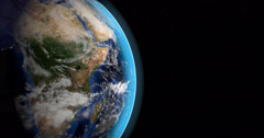Africa continent in planet earth from outer space Stock Footage