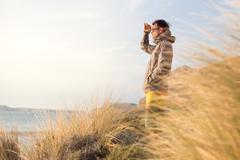 Free active man enjoying beauty of nature. Stock Photos
