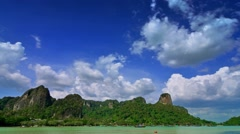 Paradise landscape in Thailand. Time lapse of clouds. Stock Footage