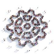 cog gear people 3D rendering - stock illustration